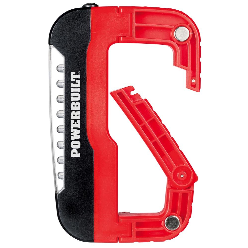 Tire Changing Hand Tools >> Powerbuilt Jumbo LED Carabiner Flashlight - 642359 | eBay