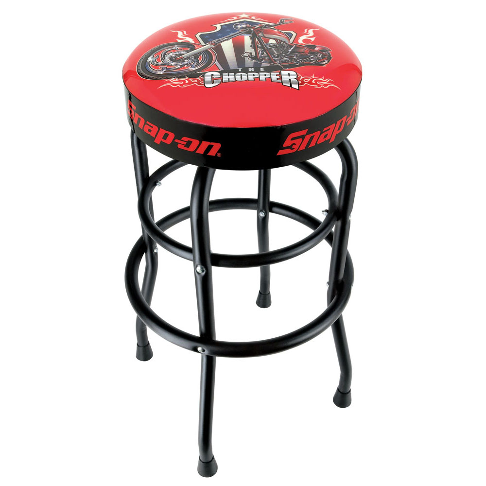 Snap On 174 Garage Shop Swivels 360 Degree Bar Stool With