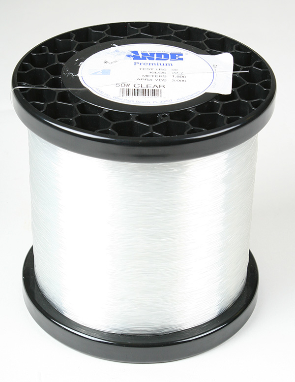 Ande premium mono 2 lb spool 50 lb test color clear ebay for Ande fishing line