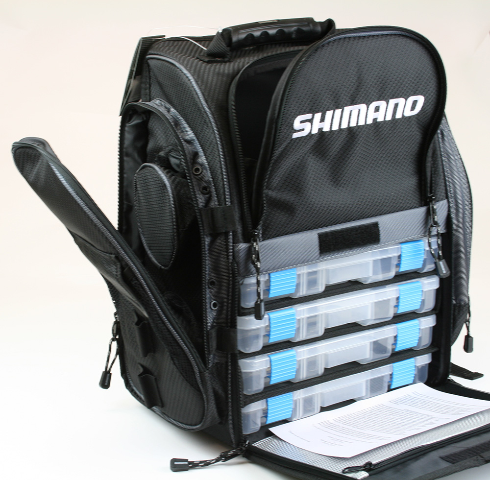 shimano blackmoon fishing backpack tackle bag medium
