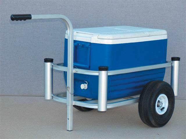 Fish n mate lil 39 mate 600 beach fishing cart 4 rod holder for Fish n mate cart