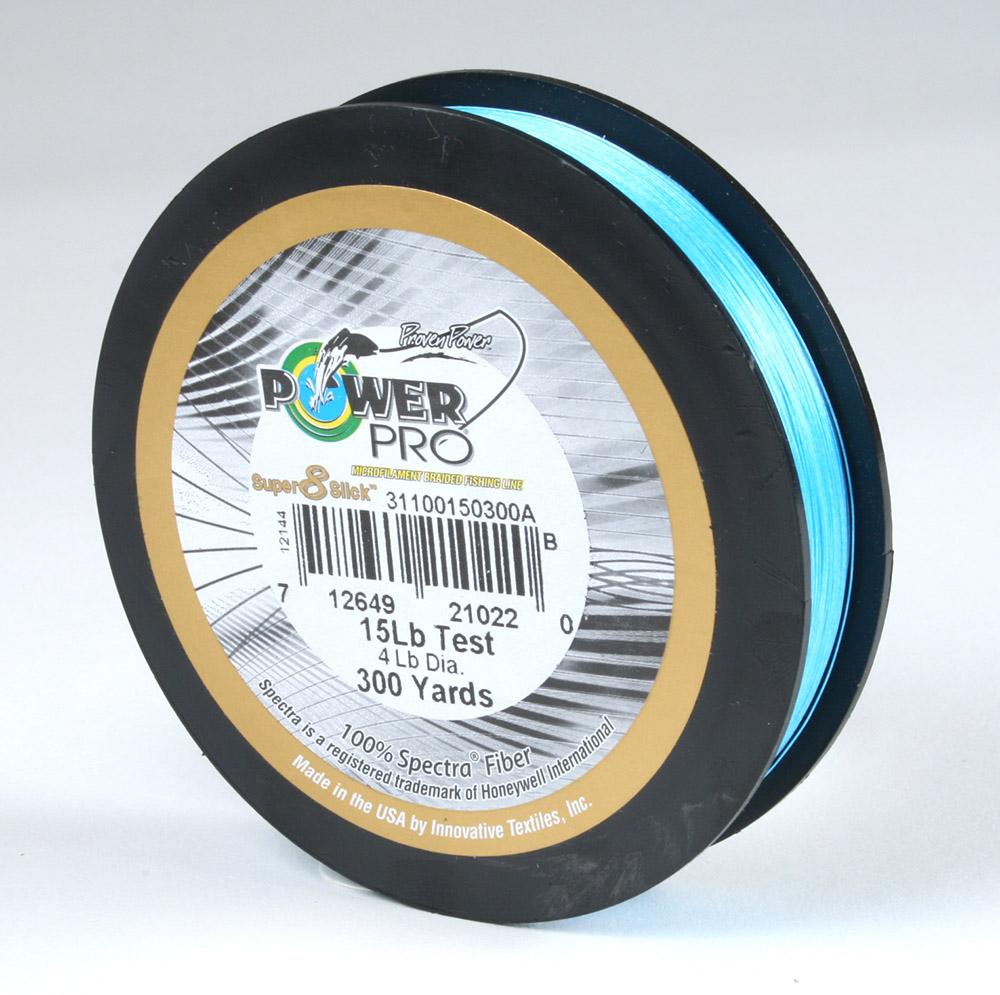 Powerpro super slick braided line 15lb 300yds ebay for Powerpro fishing line