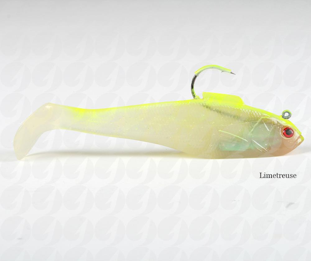 Tsunami ss9dh soft bait swim shad dual hook lure ebay for Shad fishing rigs