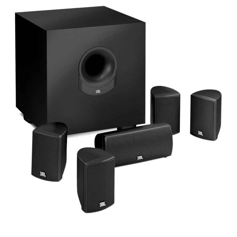 jbl scs145 5bk z 6 piece home cinema speaker system with. Black Bedroom Furniture Sets. Home Design Ideas