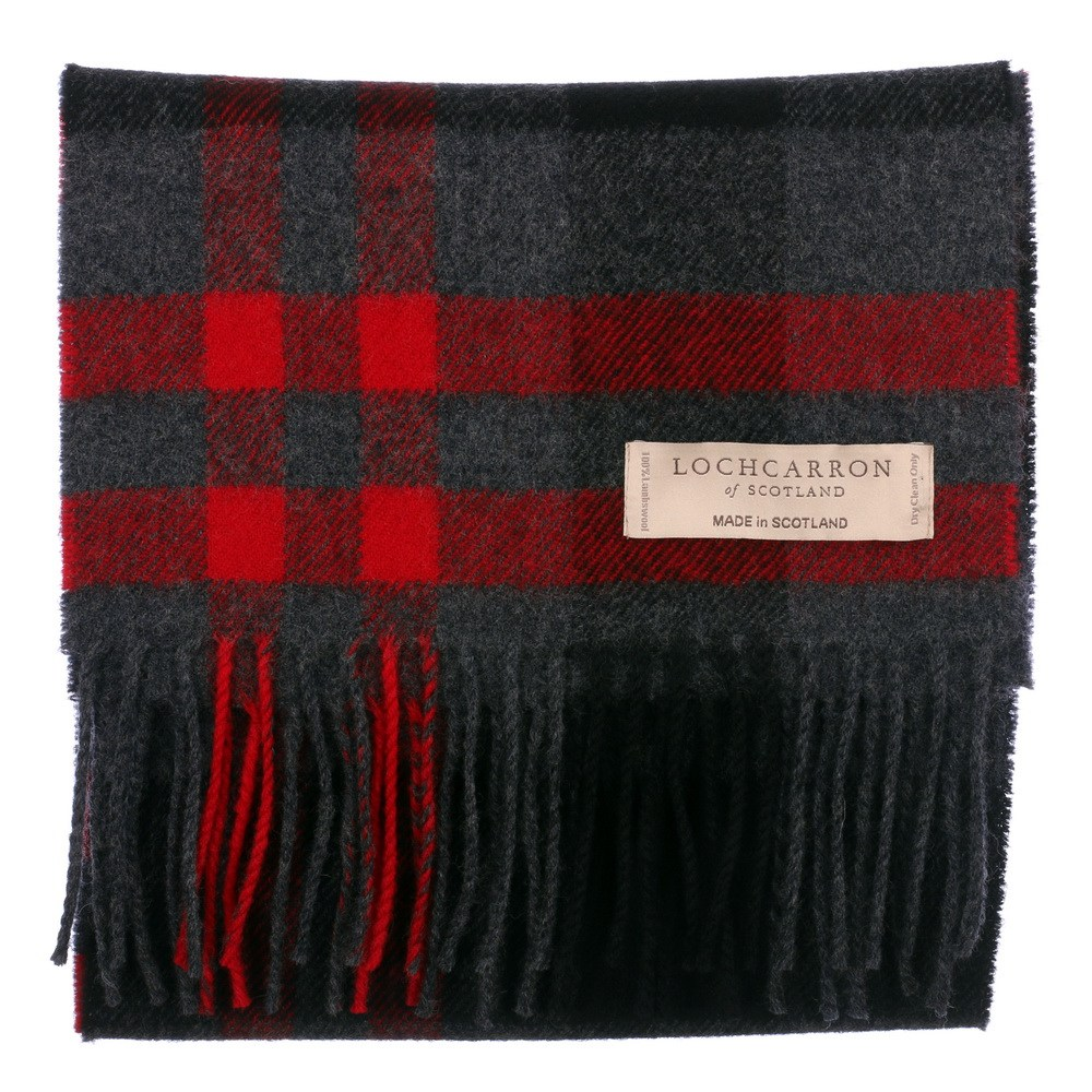 New Long Neck Tartan Scarf Scottish Lochcarron Wool Scarf in 20 Tartans