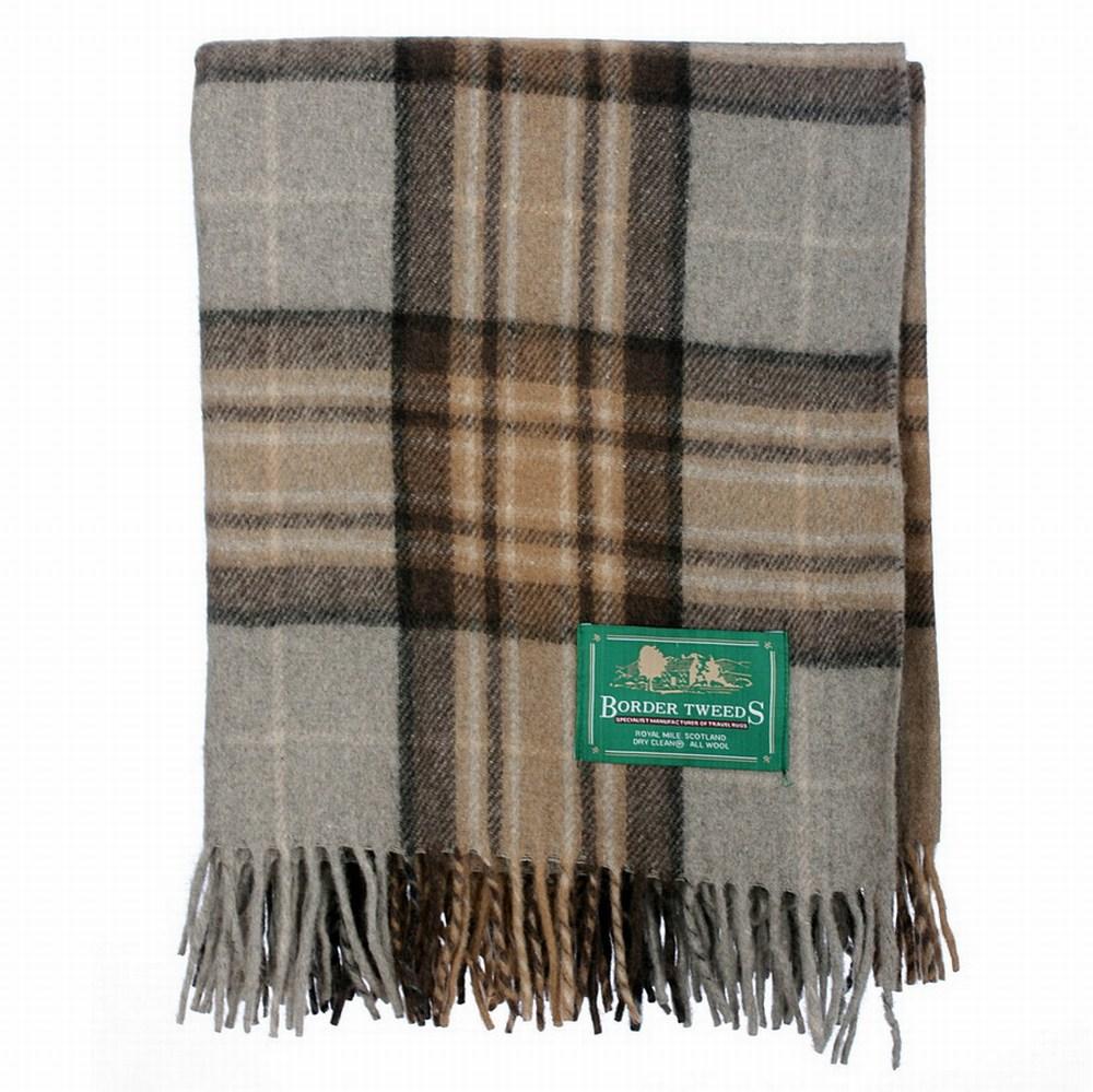 New BNWT Scottish Throw Large Wool Tartan Rug