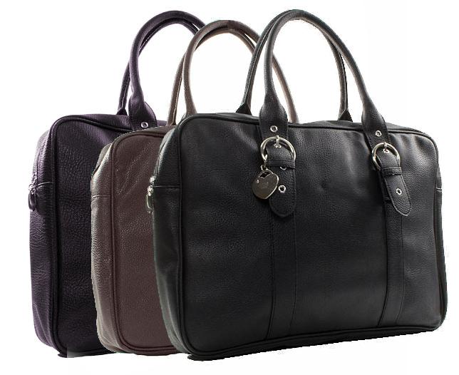 Storm-Womens-Black-Zip-Up-Laptop-Shoulder-Bag-Black-Brown-or-Purple