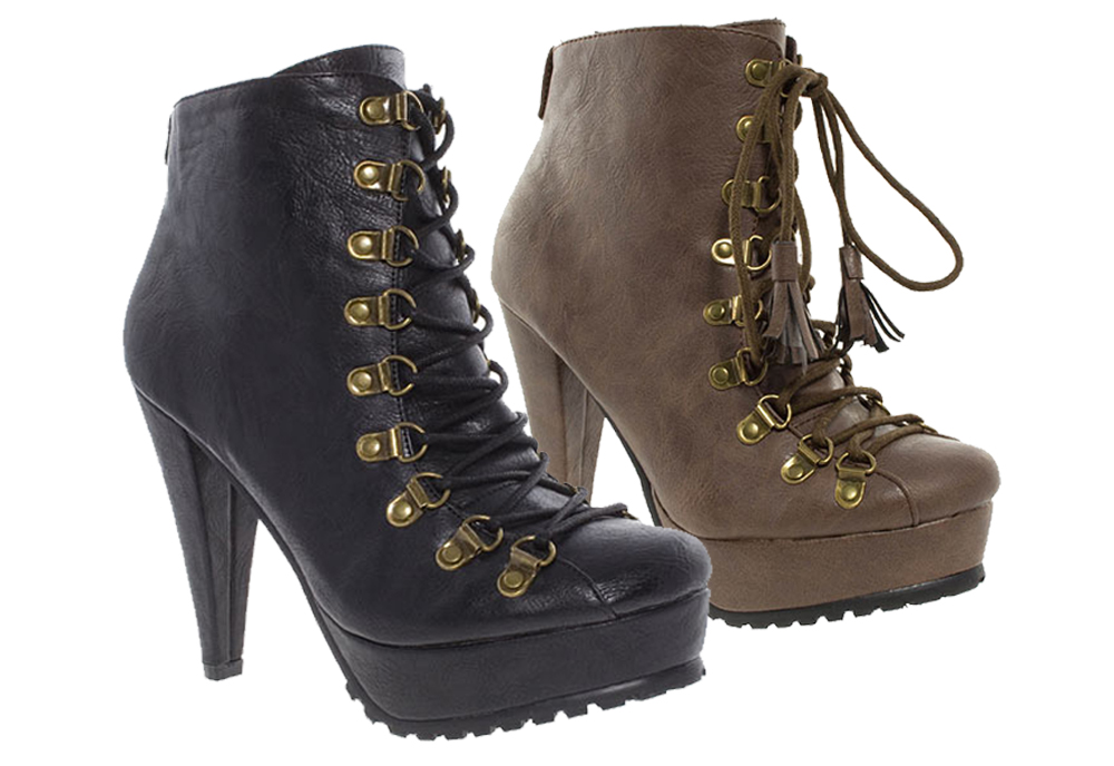 Barratts-Womens-High-Heel-Hiker-Ankle-Boots-Black-or-Brown