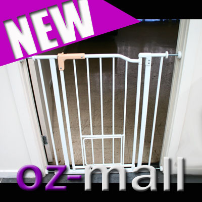 NEW-METAL-PET-DOG-BARRIER-SAFETY-SWING-GATE-EXTRA-DOOR