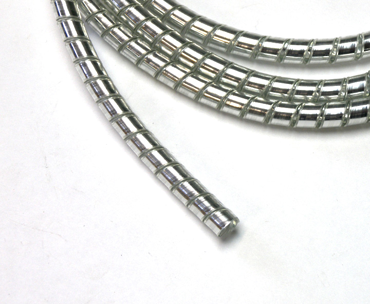Chrome Spiral Cable Wrap Wire Tidy 6mm Motorcycle Trike 1
