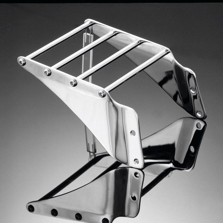 Mini chrome luggage rack yamaha xv virago 750 1000 1100 for Yamaha virago 1100 saddlebags