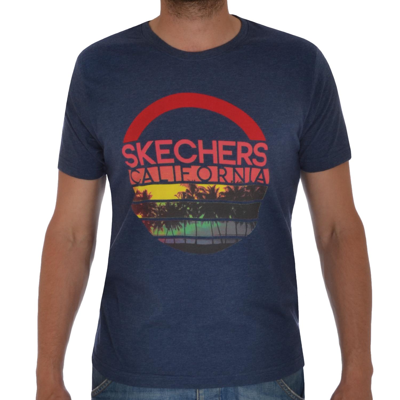 Skechers Aston Mens Short Sleeve Crewneck Casual T Shirt