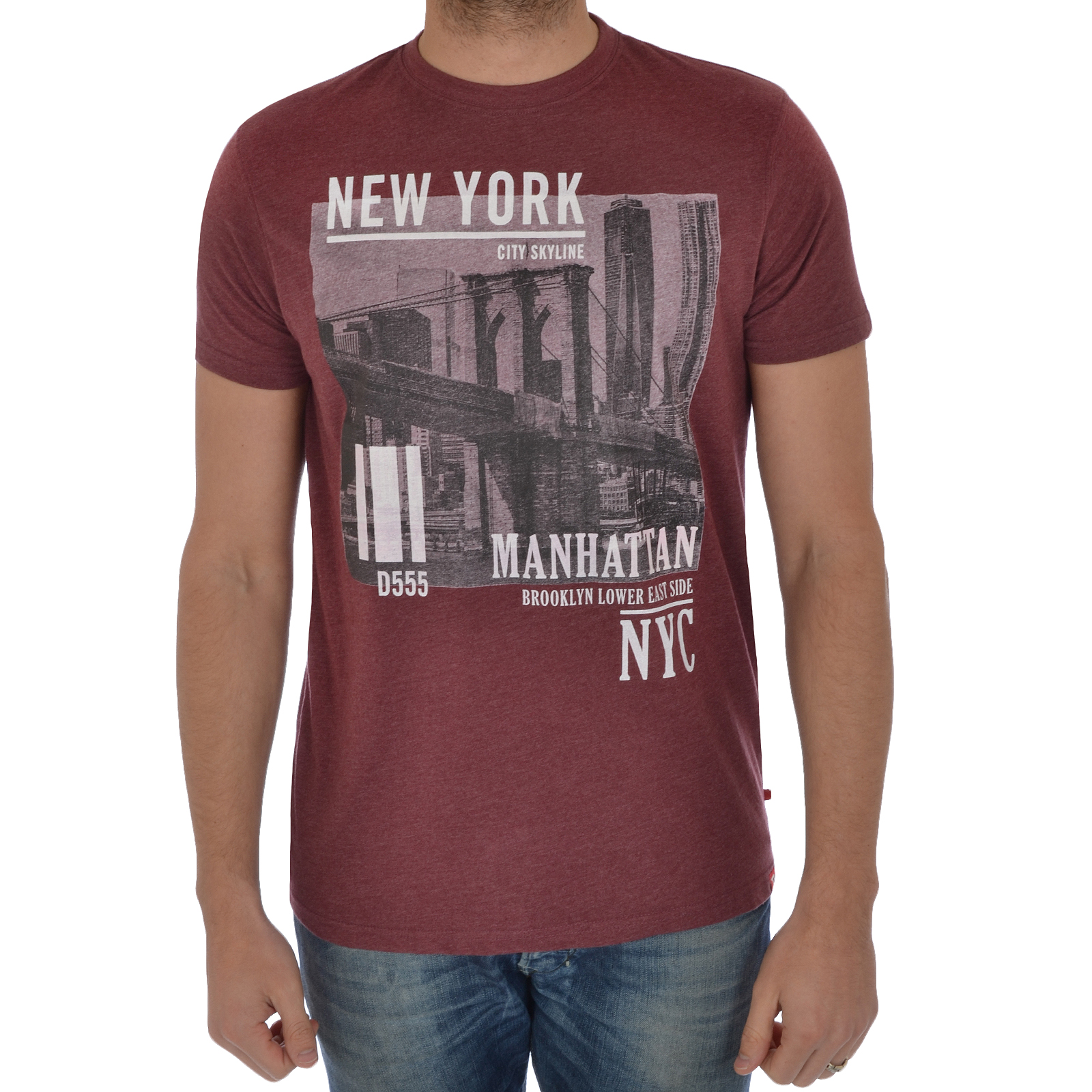 D555 mens new york city print short sleeve tee t shirt ebay for New york printed t shirts