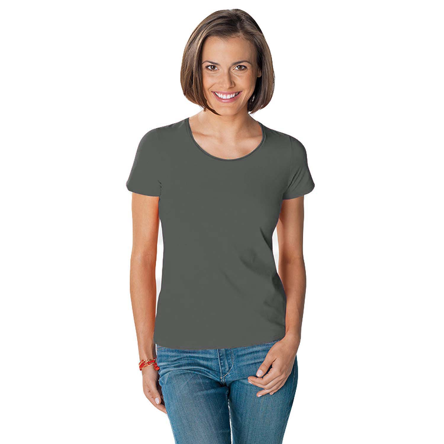 hanes tasty womens crew neck short sleeve casual cotton