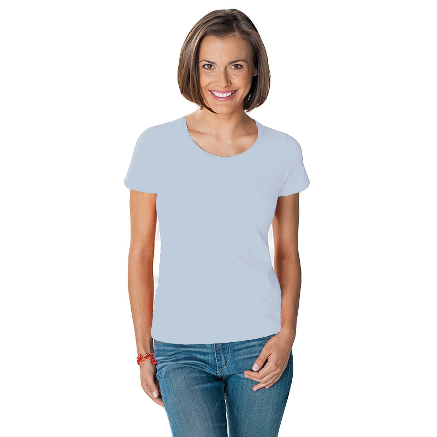 Hanes tasty womens crew neck short sleeve casual cotton for Women s crew t shirts