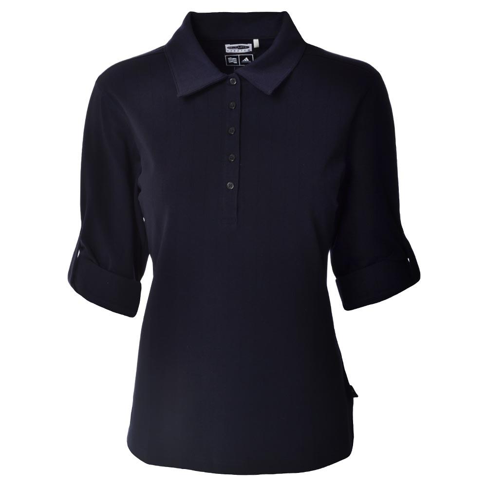 Adidas Golf Ladies Climalite Polo Shirt Top Navy Blue 18