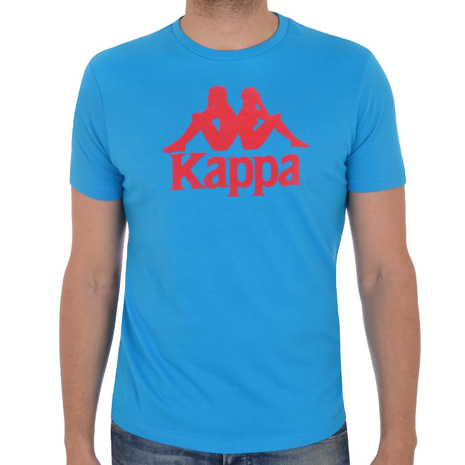 Kappa Mens Short Sleeve Large Logo Crewneck Casual T Shirt