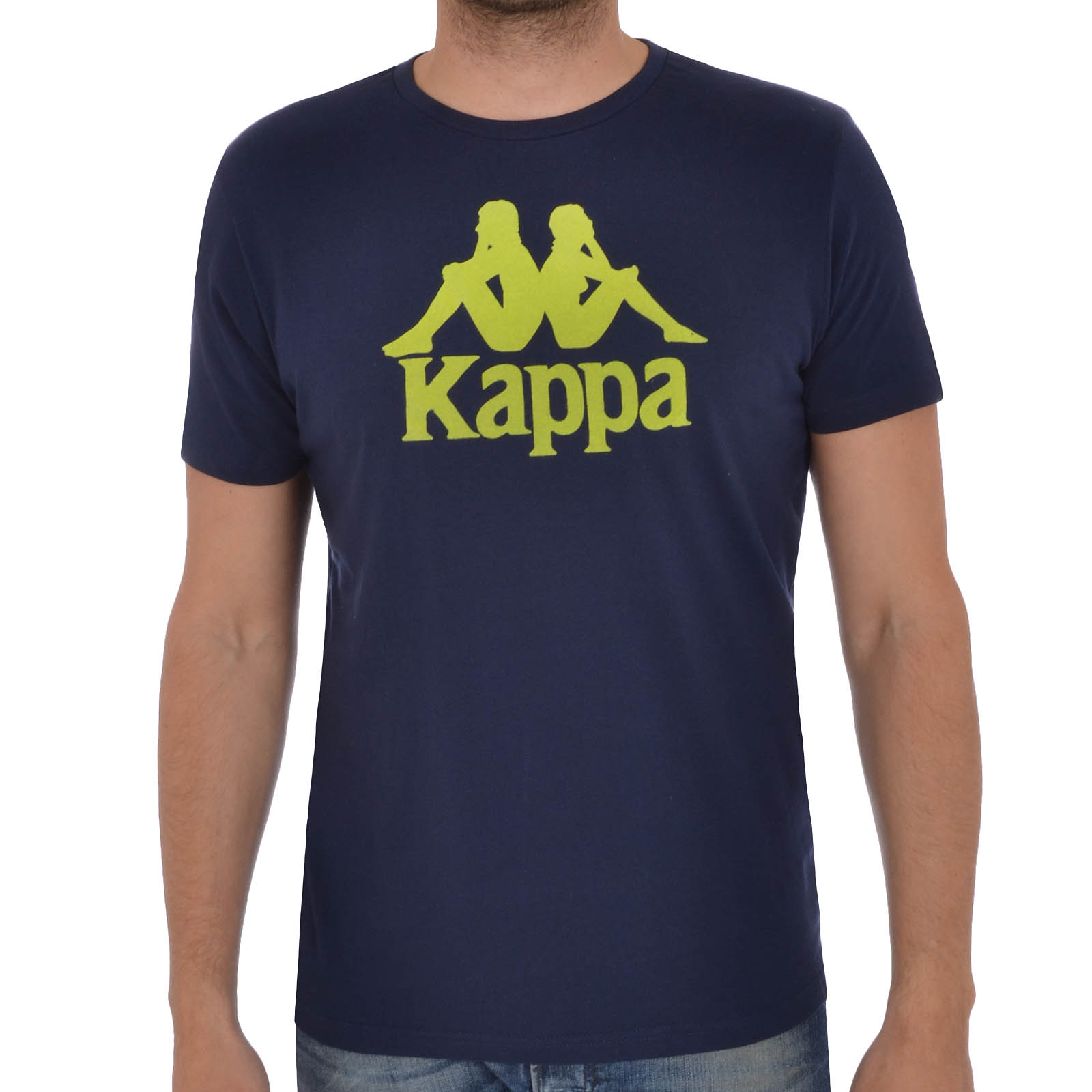 Kappa mens short sleeve large logo crewneck casual t shirt for Best casual t shirts