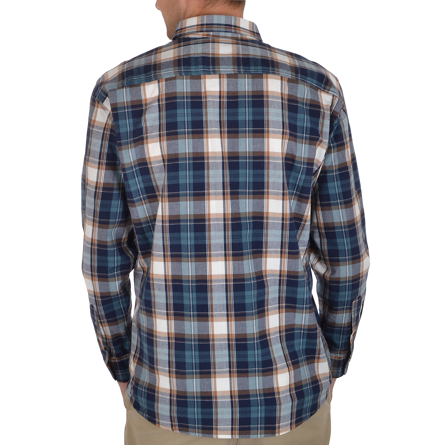 Dunnes mens long sleeve brushed cotton lumberjack flannel for Flannel checked long sleeve shirt