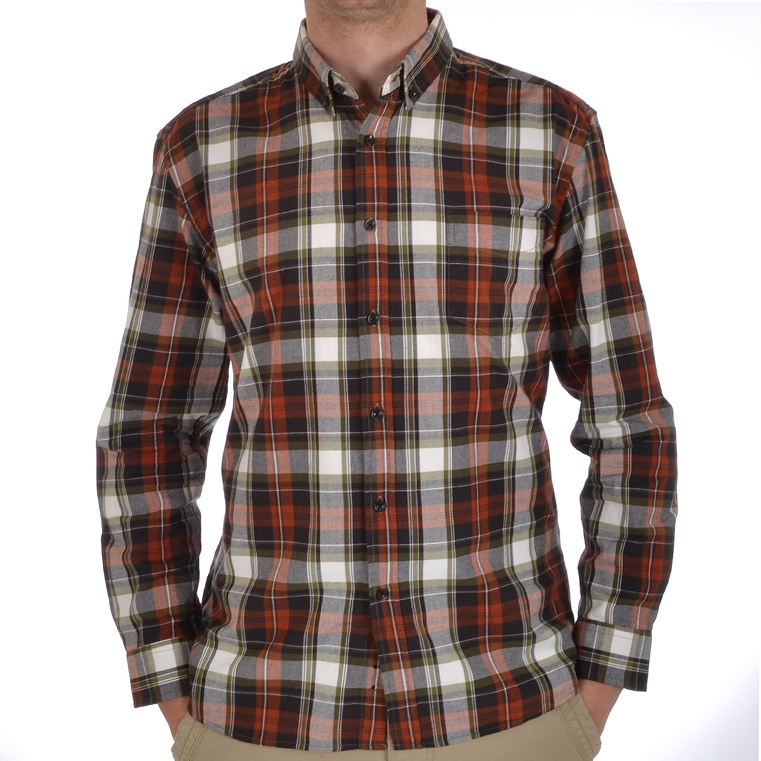 Dunnes mens classic long sleeve brushed cotton lumberjack for Flannel checked long sleeve shirt