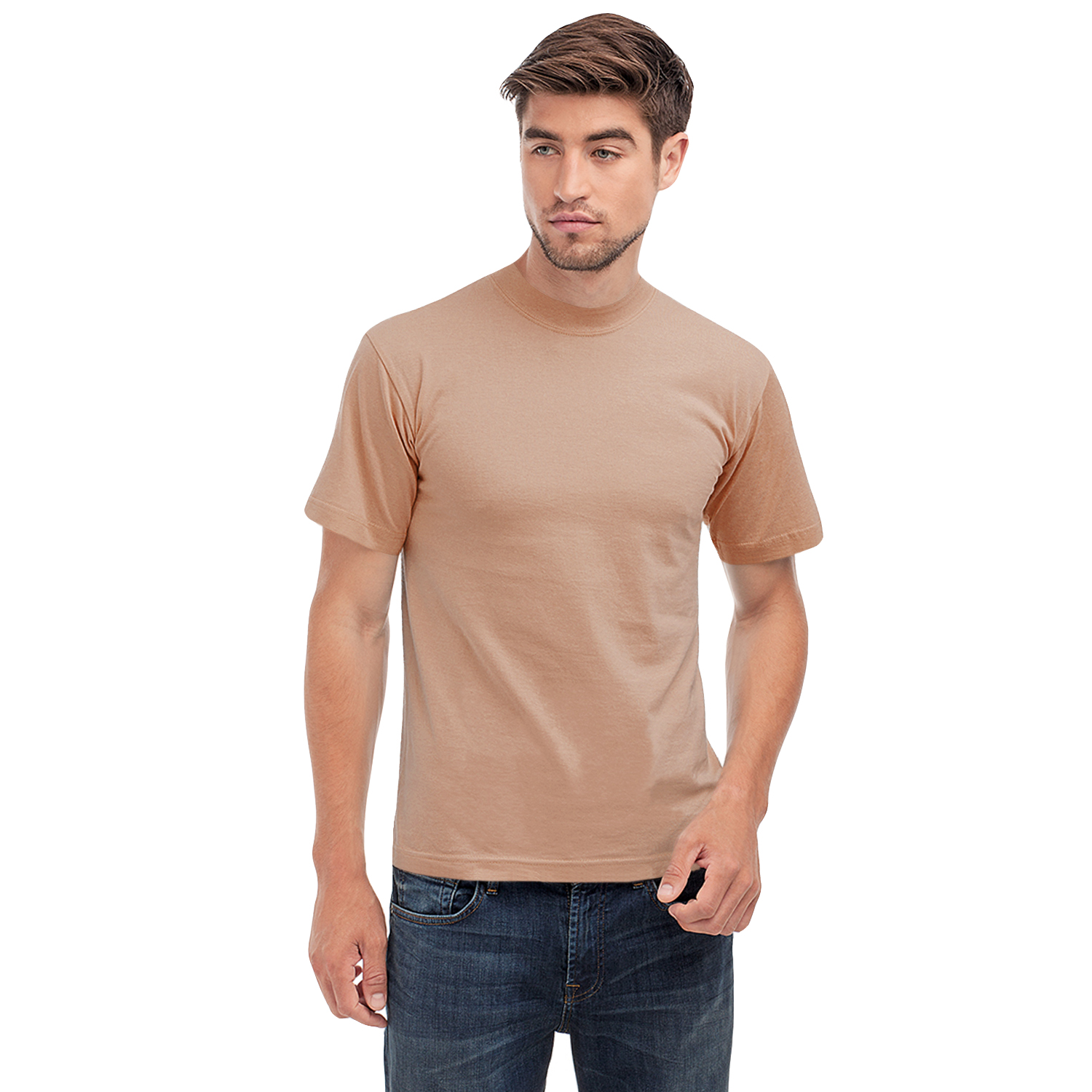 Hanes heavy t mens short sleeve crew neck casual cotton t for Mens crew neck tee shirts