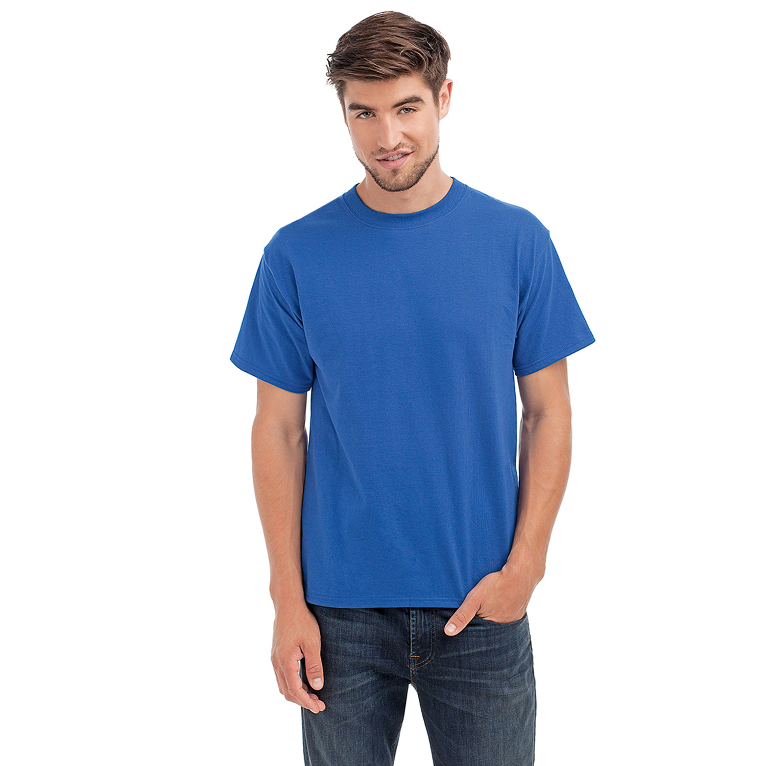 Hanes beefy t mens cotton crewneck tagless short sleeve t for Hanes 5180 beefy t t shirt
