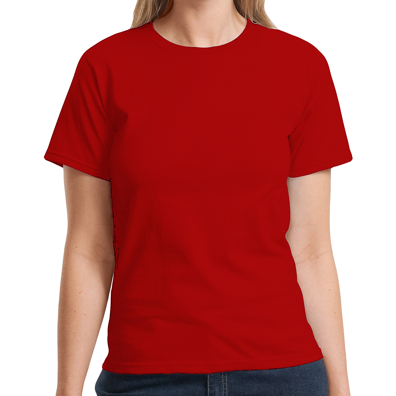 Hanes liberty womens round neck short sleeve casual cotton for Round neck t shirts for ladies
