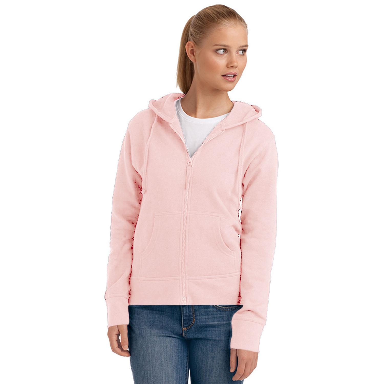 Hanes-Womens-Spicy-Zipped-Hooded-Hoodie-Hoody-Sweatshirt-Fleece-Jumper-Top