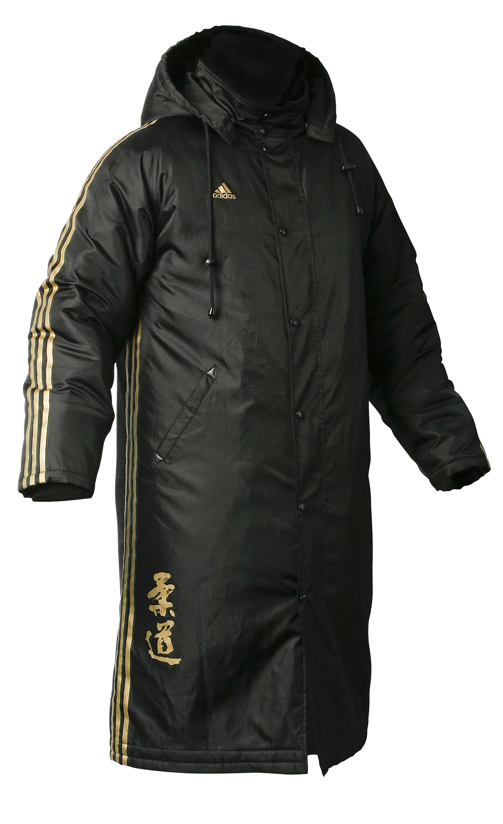 adidas mens long budo spirit winter parka jacket black. Black Bedroom Furniture Sets. Home Design Ideas