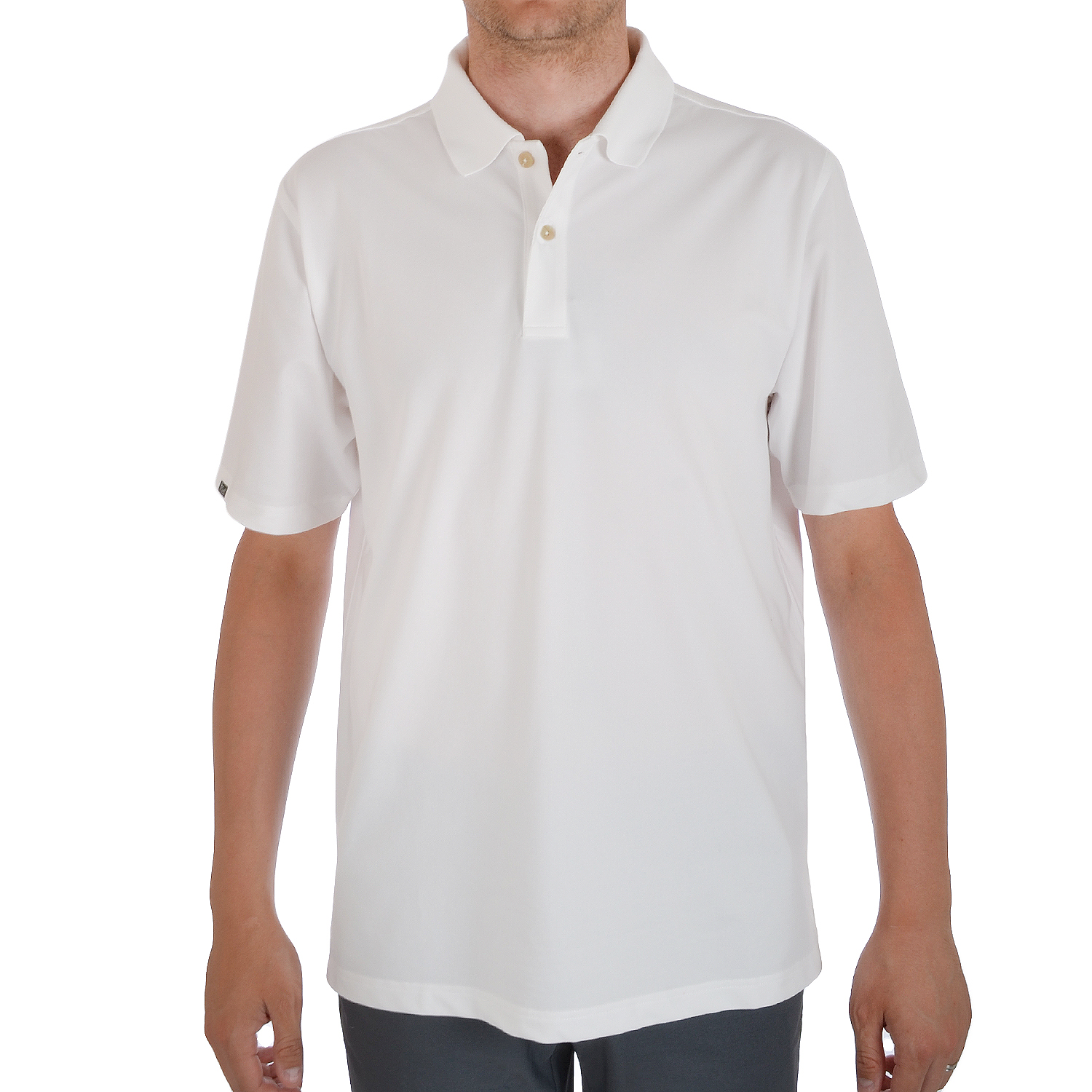 Ashworth-Performance-Mens-Short-Sleeve-Cotton-Golf-Polo-Shirt-Top-White-Red