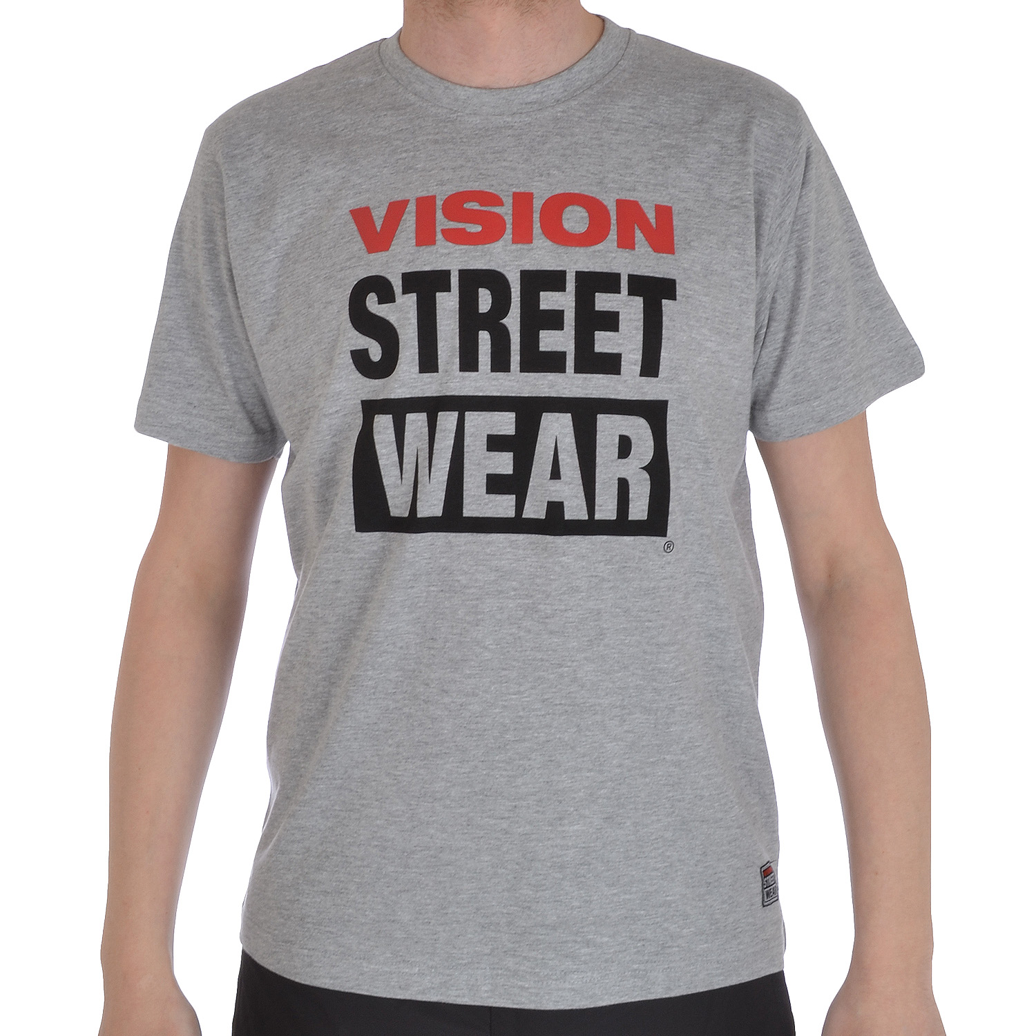 Vision street wear mens casual short sleeve crewneck logo for Best casual t shirts