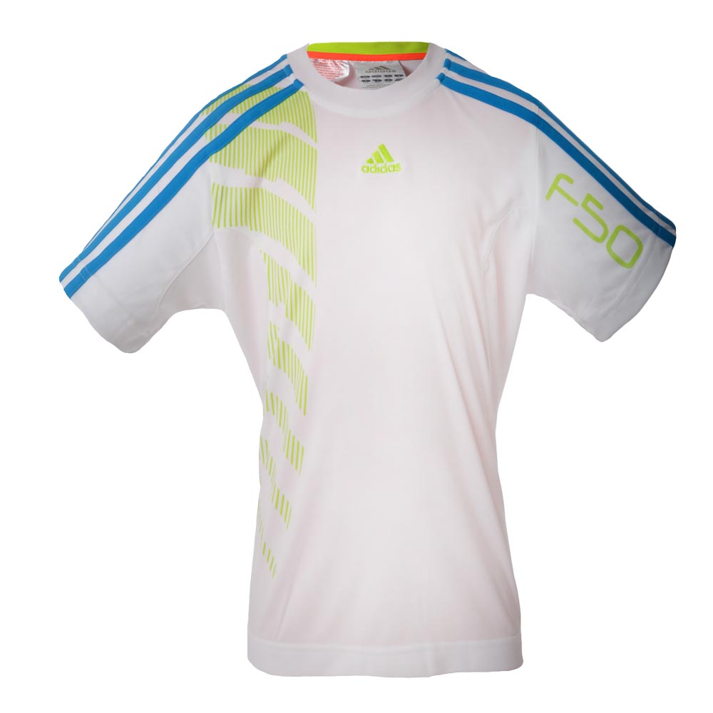 Adidas junior f50 football training t shirt boys soccer for Boys soccer t shirts