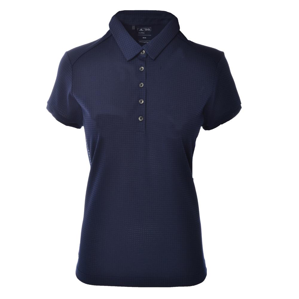 Adidas Climacool Ladies Golf Short Sleeve Polo Shirt Navy