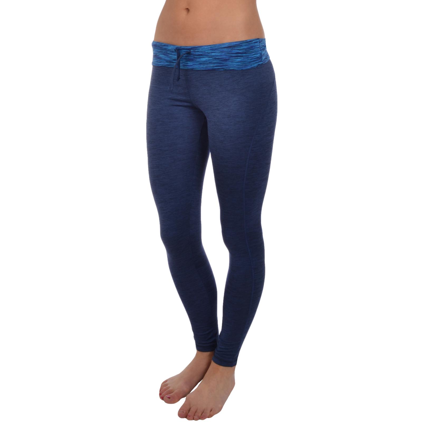 dunkelblau//schwarz Slazenger Damen Laufhose//Fitness-Leggings