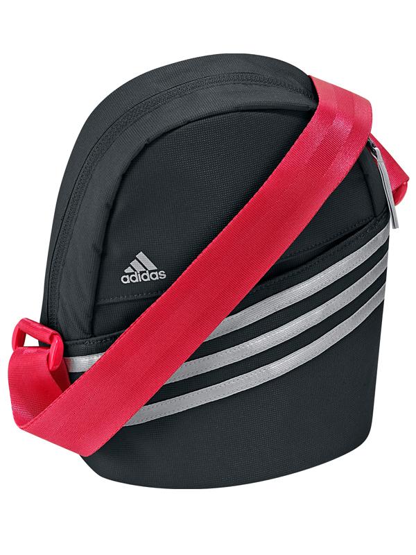 Fantastic Adidas 3 Stripe Enamel Small Shoulder Bag Womens Pink Sports Gymbag Kitbag | EBay