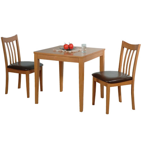 Small dining table and chairs set mila beech mocha wooden for Two seater dining table