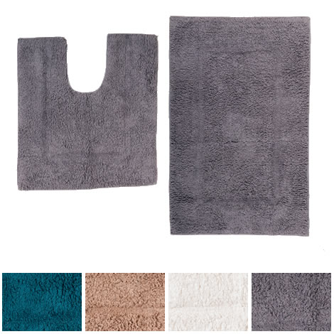 Bath-and-Toilet-Pedestal-Mats-Matching-Bathroom-Sets-Cream-Brown-Grey-Blue