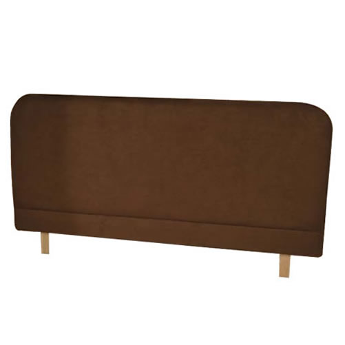 Dorchester Faux Suede King Size Bed Headboard Brown enlarged preview
