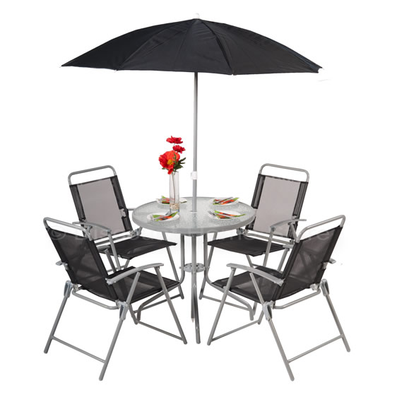 Patio Table and Chairs Dining Set - 4 Seater Garden Furniture - Outdoor Dining enlarged preview