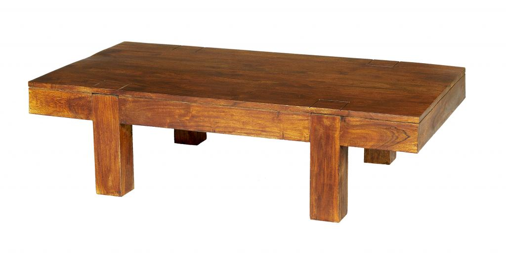 Solid Acacia Coffee Table Rustic Wooden Living Room Table Ebay