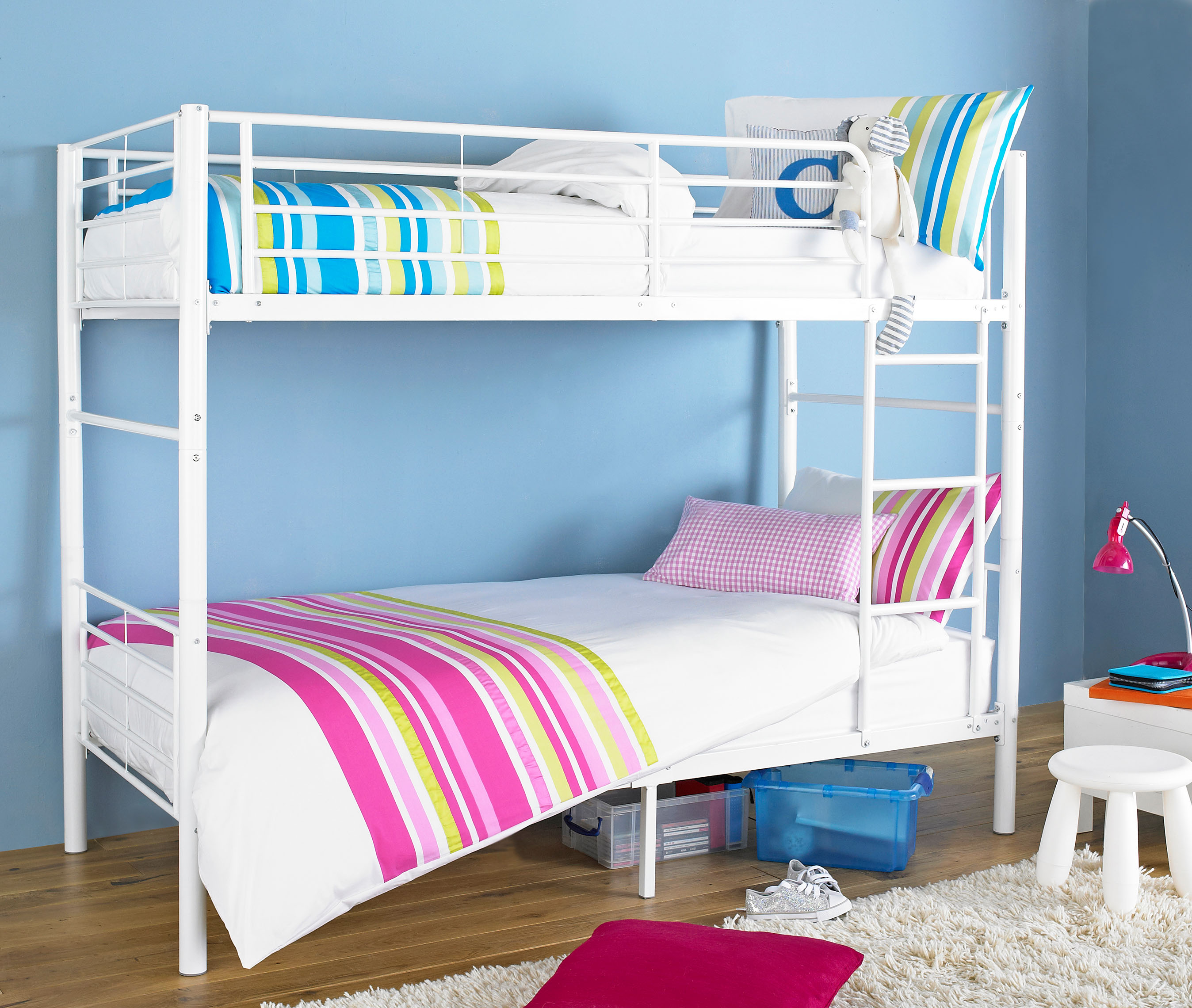 splittable bunk bed frame white metal bunk bed with