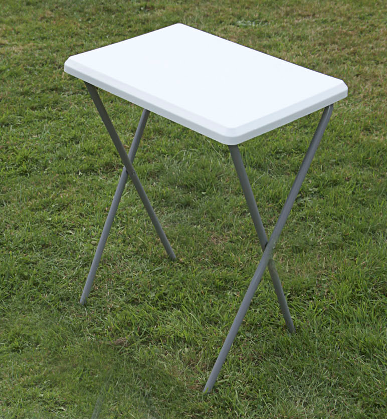 small outdoor garden table 52cm x 38cm camping table white folding table ebay. Black Bedroom Furniture Sets. Home Design Ideas