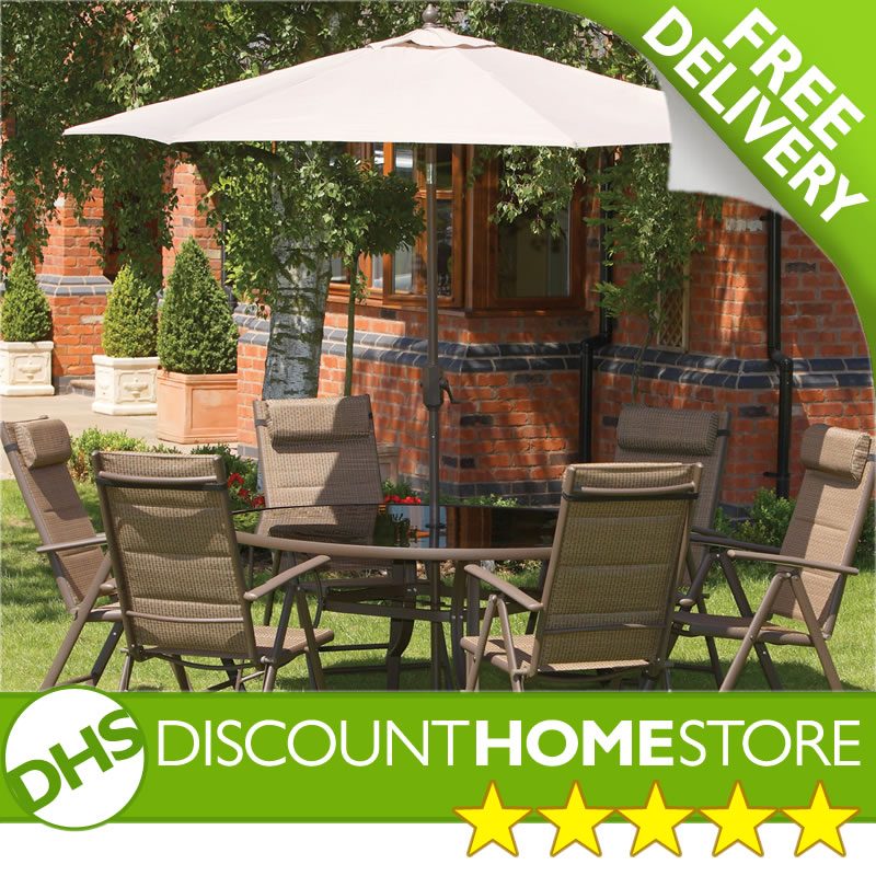 discount home store corralejo 6 seater garden round table and chairs