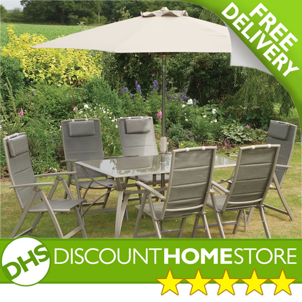 garden 6 seater set mattinata rectangular outdoor patio furniture