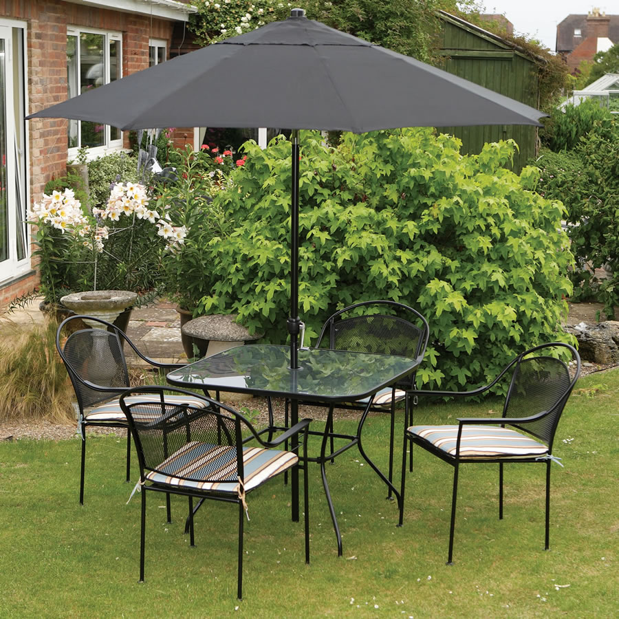 4 Seater Set Garden Table And Chairs Barcelona With