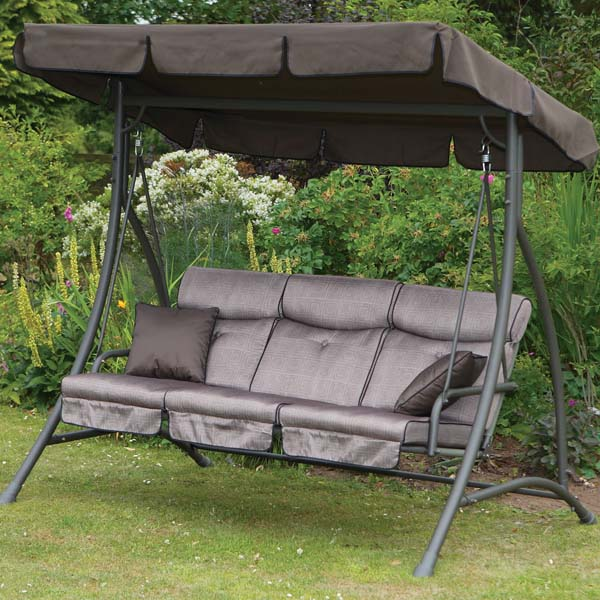 Garden Swing Hammock Luxury 3 Seater Outdoor Sunshine Swing Seat Ca