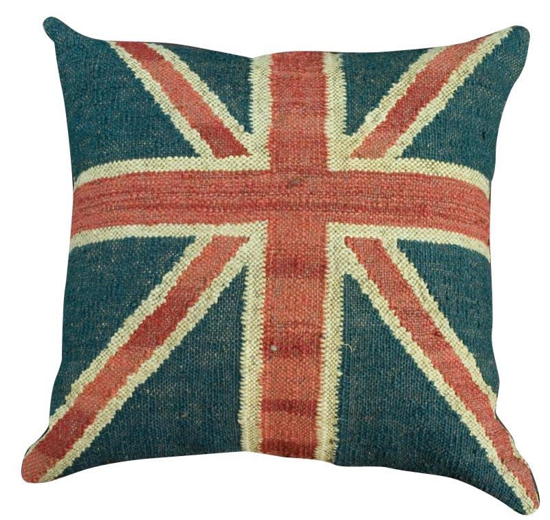 Large union jack cushion british flag home decor ebay for Decoration murale union jack