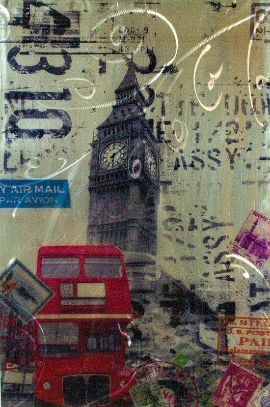 London themed painting shabby chic home decor ebay for Home decorations london