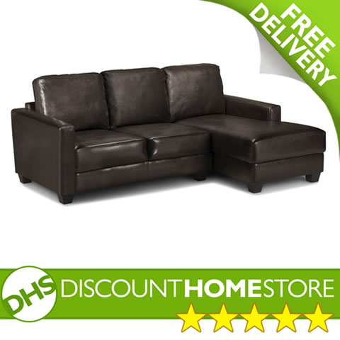 Brown Leather Corner Sofa 3 Seater Corner Sofa enlarged preview