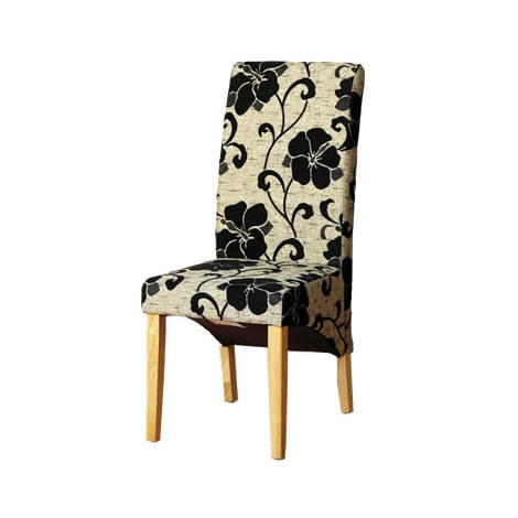patterened dining room chair floral fabric upholstered